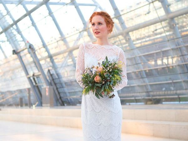 Hochzeitsmesse art floral Leipzig Blumenstrauß Hochzeit Trauung Blumen Kleid Heirat
